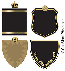 gold and black crest