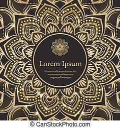 Gold and black invitation template