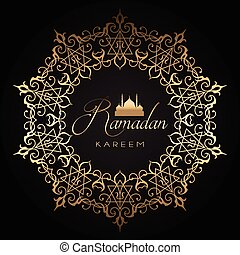 gold and black ramadan background 1005