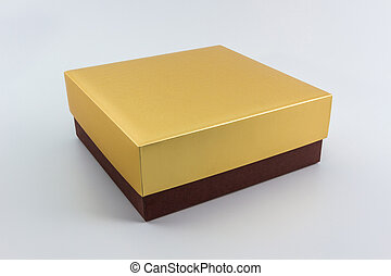 Gold and Brown box. - Gold and Brown box on white backgorund...