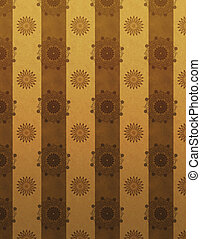 Gold and brown retro wallpaper pattern