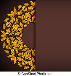 Gold and brown sunflowers round invitation