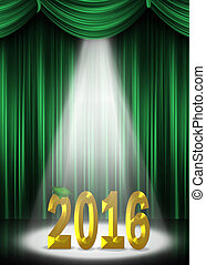 gold and green 2016 graduation