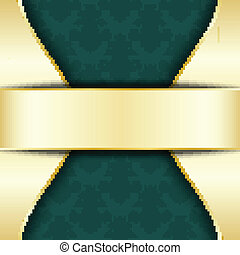 Gold and green template