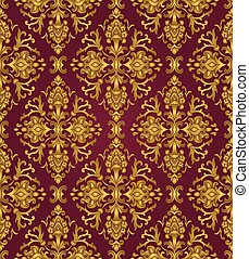 Gold and lilas pattern.