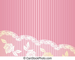 Gold and pink French lace background, horizontal