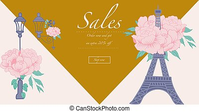gold and purple commercial banner