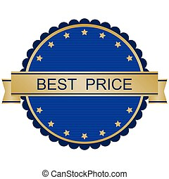 Gold and red best price badge