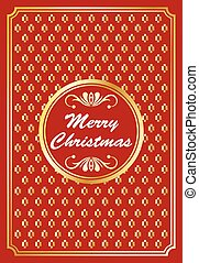 Gold and red Christmas design
