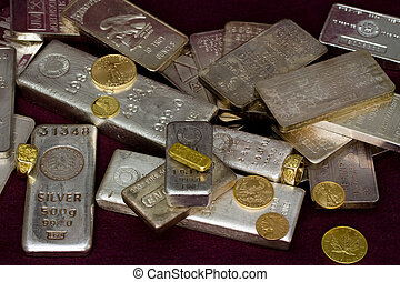 Gold and Silver Bullion - Gold and silver bullion - Bars,...