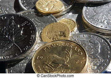 Gold and Silver Coin - A collection of gold and silver coins...