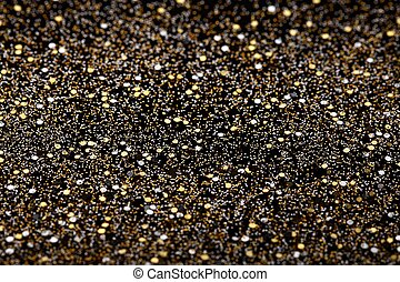 Gold and Silver Glitter Background - Christmas New Year Gold...