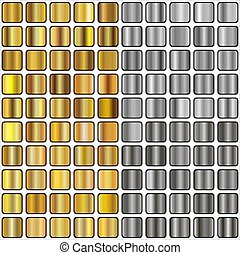 gold and silver gradients