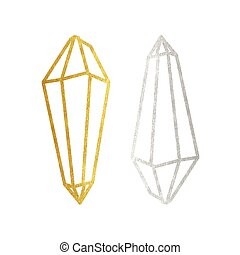 Gold and silver magic crystals