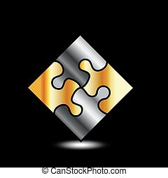 Gold and silver puzzle