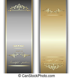 gold and silver ribbons - Elegant template luxury...