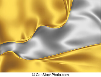 gold and silver silk design - beautiful modern background