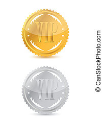 Gold and silver vip seals