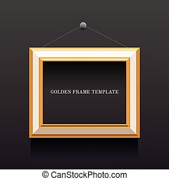 gold and white frame template