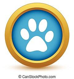 Gold animal icon