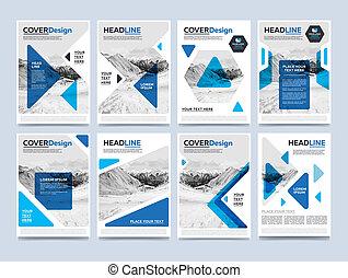 Gold annual report brochure design template raster - ...
