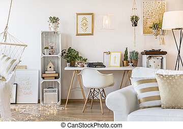Gold apartment for woman