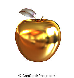 gold, apfel