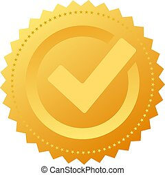Gold approval seal