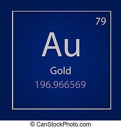 Goldau isolated blackboard with periodic table gold gold au chemical element icon urtaz Choice Image