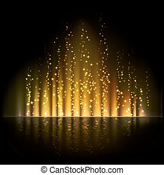 Gold aurora light. Abstract vector backgrounds - Gold aurora...