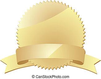 award label - gold award label eps 10