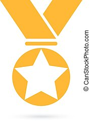 Gold award medal icon