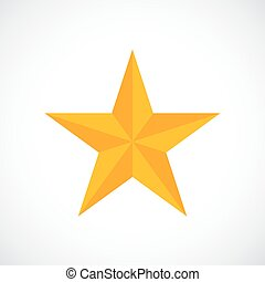 Gold award star vector icon