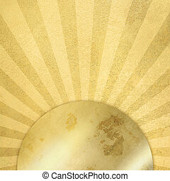 Gold background abstract sunburst