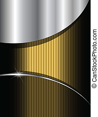 Gold background composition, vector.