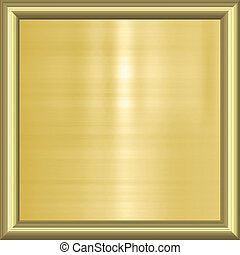 gold background in frame - great image of gold plaque in ...