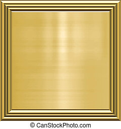 great image of gold plaque in frame