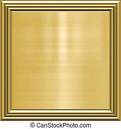 gold background in frame