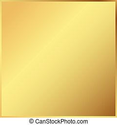 Gold background in frame. Light realistic, metallic golden gradient template. metal decoration. Vector