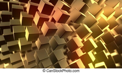 Gold background, loop seamless