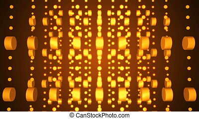 Gold background reflective shine light particles