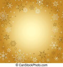 gold background - vector christmas