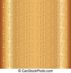 Gold Background Vector Floral