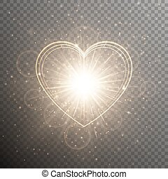 Gold background with a heart