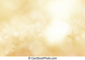 gold abstract background with bokeh lights