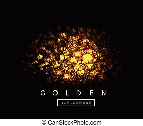 Gold background with bokeh vector illustration