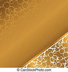 beautiful smooth gold background with white curves