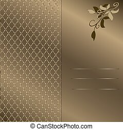 gold background with frame 4.