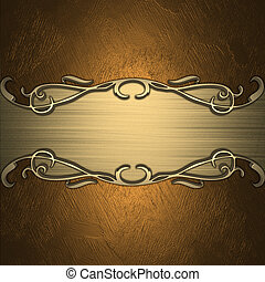 Gold Background with golden name plate. Design template