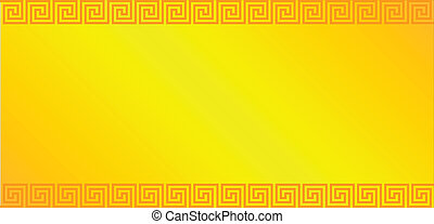 Gold background with greek ornament